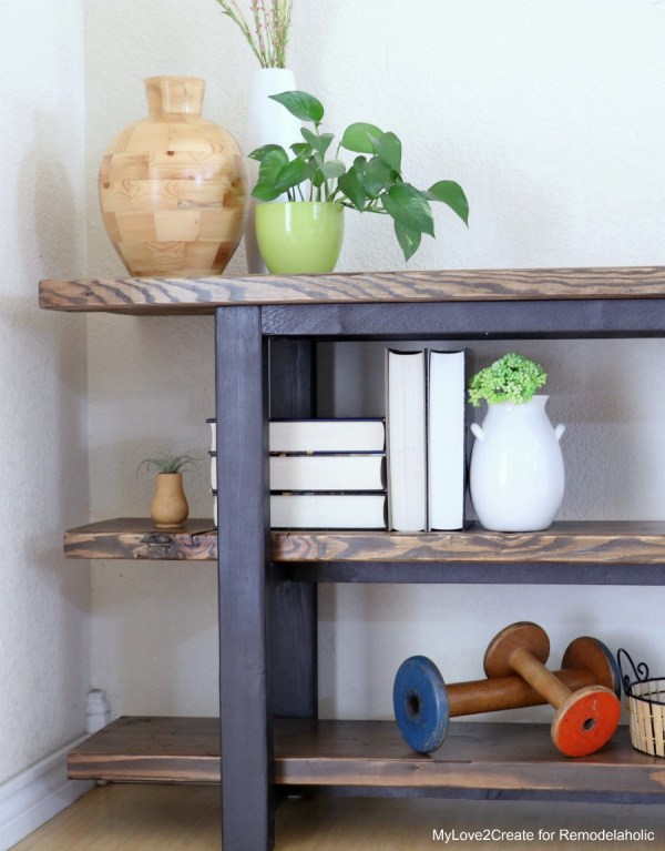DIY Modern Rustic Console Table, Easy Console Table Tutorial, MyLove2Create