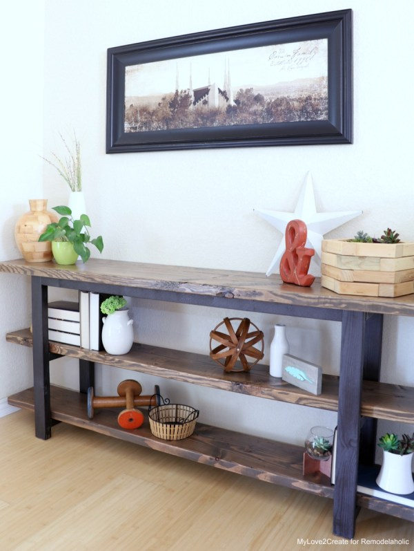 DIY Modern Rustic Console Table, How To Make A Console Table, MyLove2Create