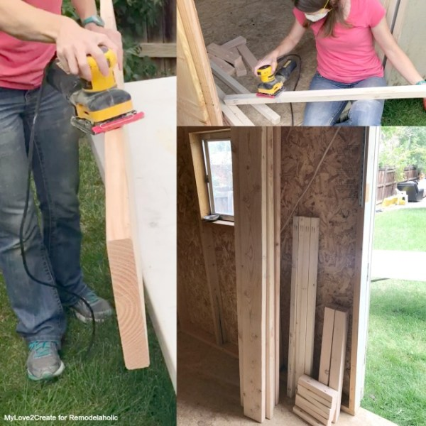 DIY Modern Rustic Console Table, Sand All Boards Before Building, MyLove2Create