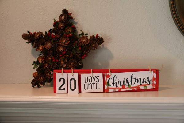 Christmas Countdown Board