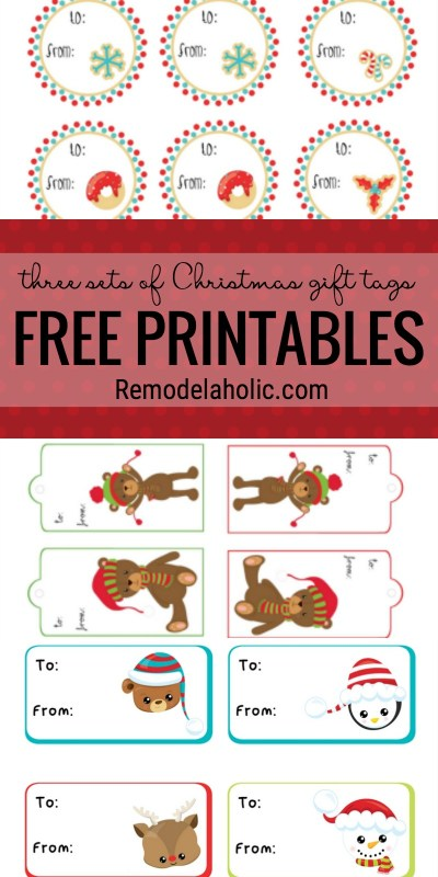 Remodelaholic free christmas gift tag printables no gift tags no problem we have three sets of free printable christmas gift negle Gallery