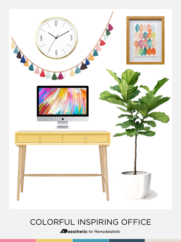 inspiration office.  Inspiration Create A Chic And Colorful Home Office With These Decorating Tips  Inspiration Furniture In Inspiration Office