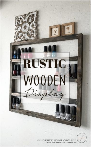 Rustic Wooden Display Banner