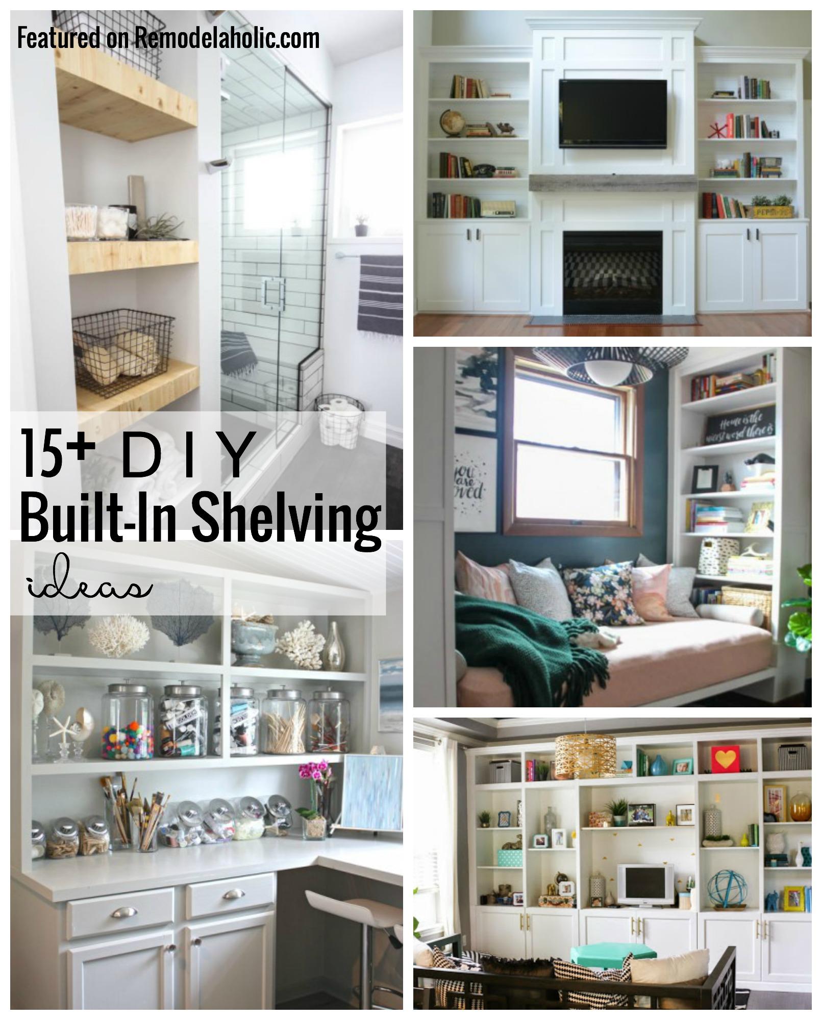 15+ DIY Built In Shelving Ideas