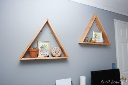 Diy Triangle Shelves 18