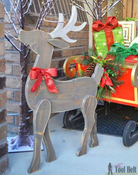 Hertoolbelt Diy Wood Reindeer And Sleigh