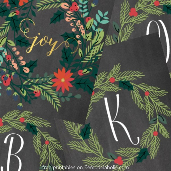Holly Monogram And Joy