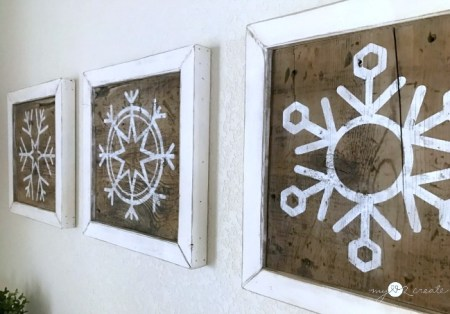 Mylove2create Reversible Snowflake Wall Art