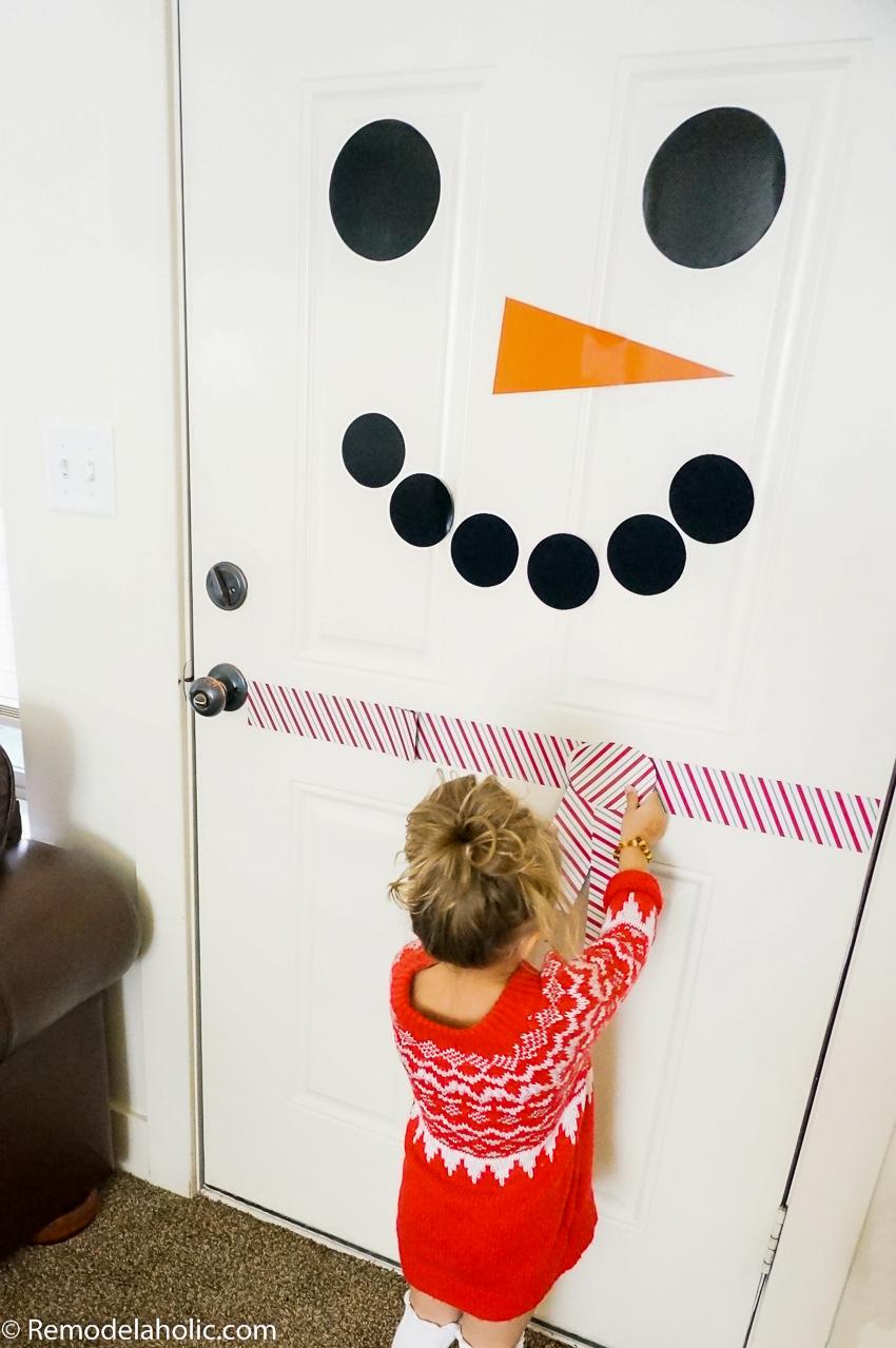Remodelaholic | Free Printable Snowman Door Decorating Kit