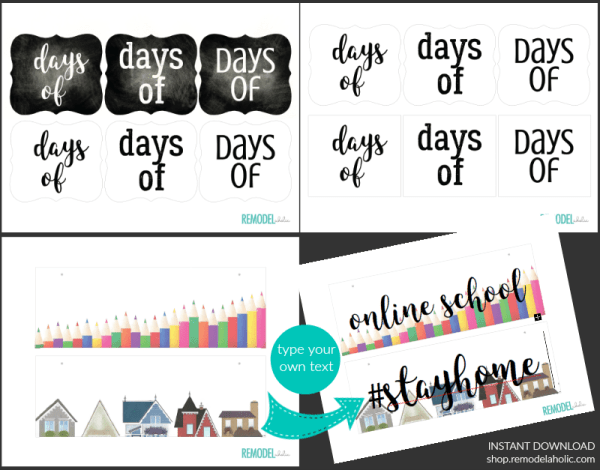 Printable Holiday Countdown Board School Count Up Days Of Calendar Stay Home Instant Download Remodelaholic