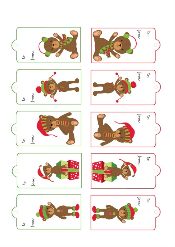 Teddies Gift Tags