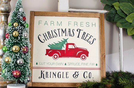 Unoriginalmom Reversible Christmas Farmhouse Sign