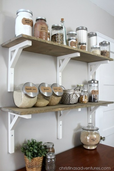Wooden Open Pantry Shelving Thumb