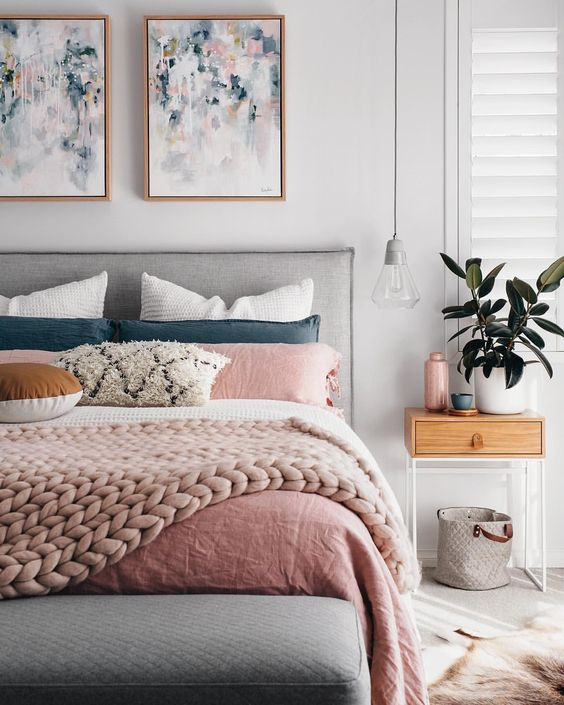 Bedroom Color Ideas Inspiration In 2019: Pretty In Pink! Blush Pink Bedroom Inspiration