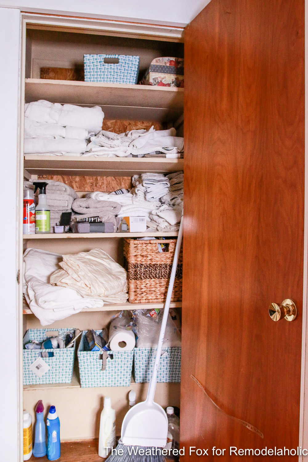 Linen Closet Makeover Before By The Weathered Fox 3