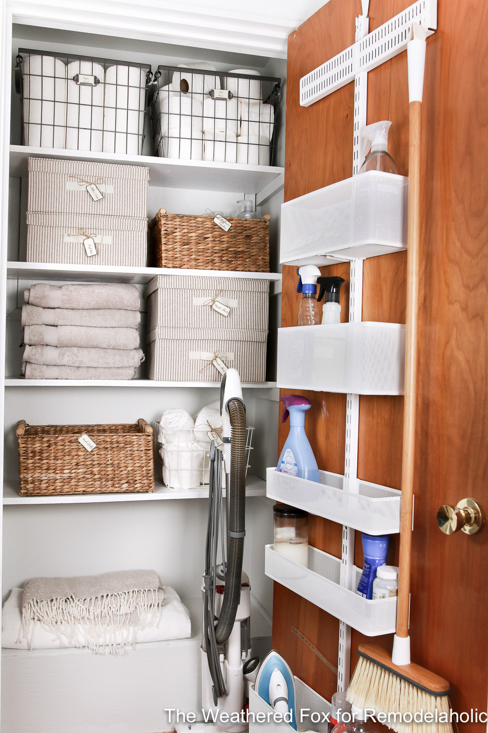 Linen Closet Makeover By The Weathered Fox 1 3
