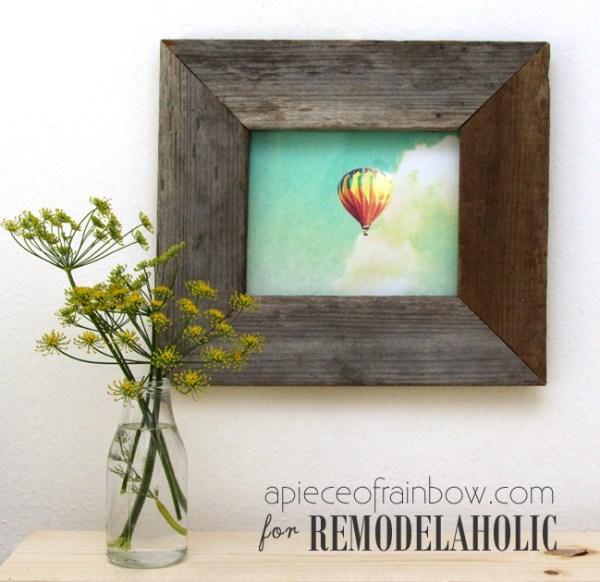 Diy Gift Idea, DIY Barnwood Frame Hack And Printable Wall Art @Remodelaholic