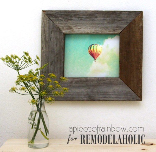 Diy Gift Idea, DIY Barnwood Frame Hack And Printable Wall Art @Remodelaholic