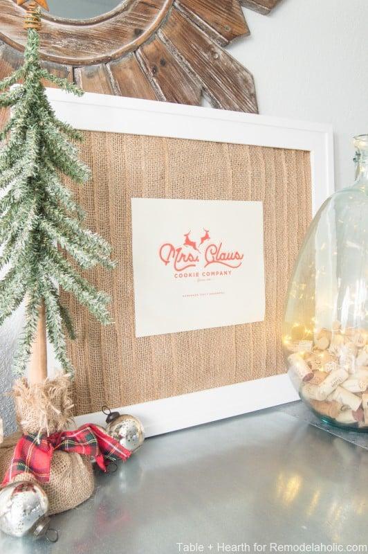 Diy Gift Idea, DIY Burlap Picture Frame And Printable Wall Art @Remodelaholic