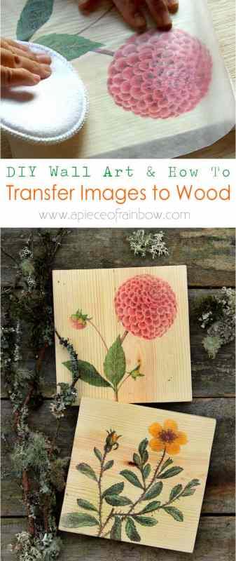 Diy Gift Idea, Transfer Free Printable Image To Wood