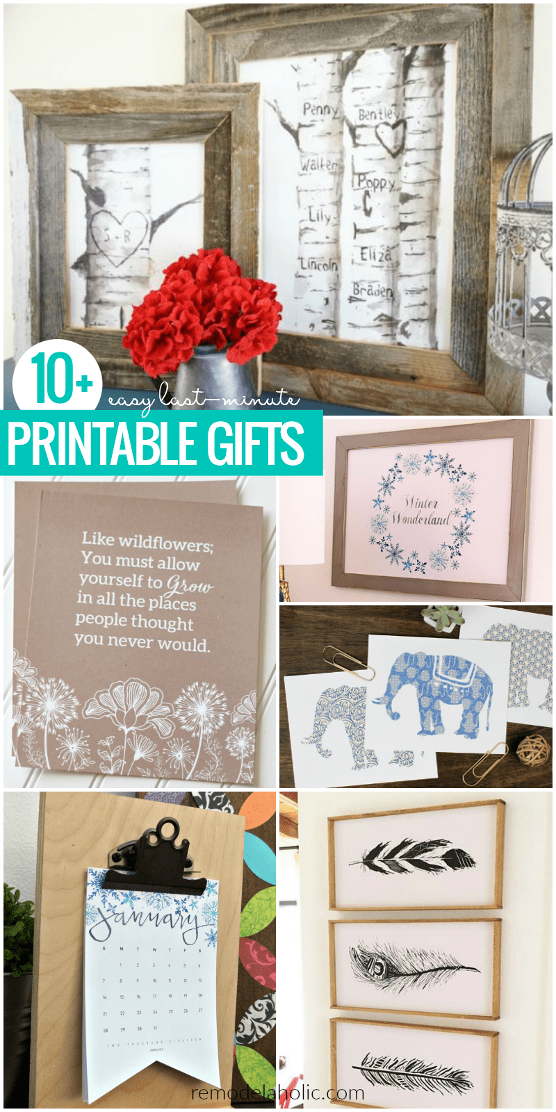 image about Printable Gifts titled Remodelaholic Closing-Second Free of charge Printable Present Tips +
