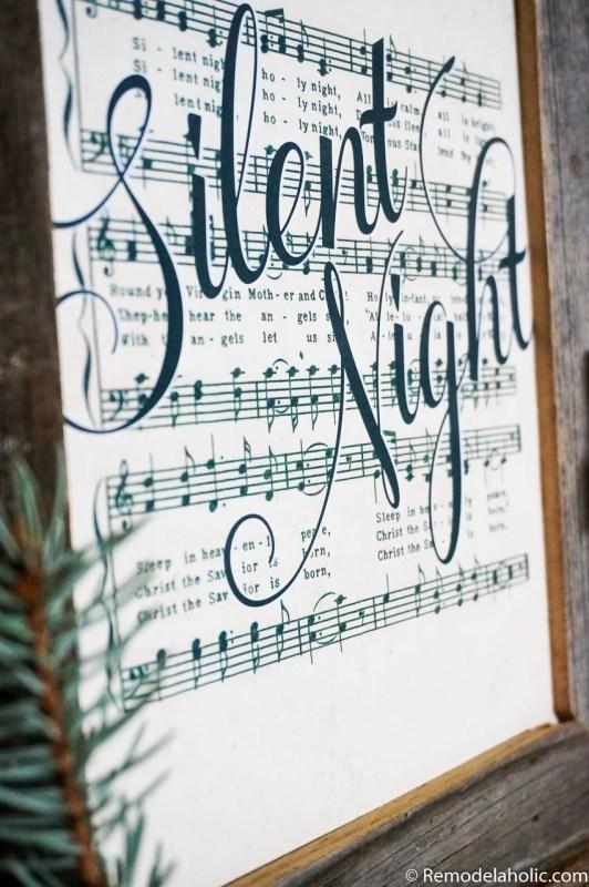 Free Printable Farmhouse Style Vintage Christmas Song Print Set @Remodelaholic (1)