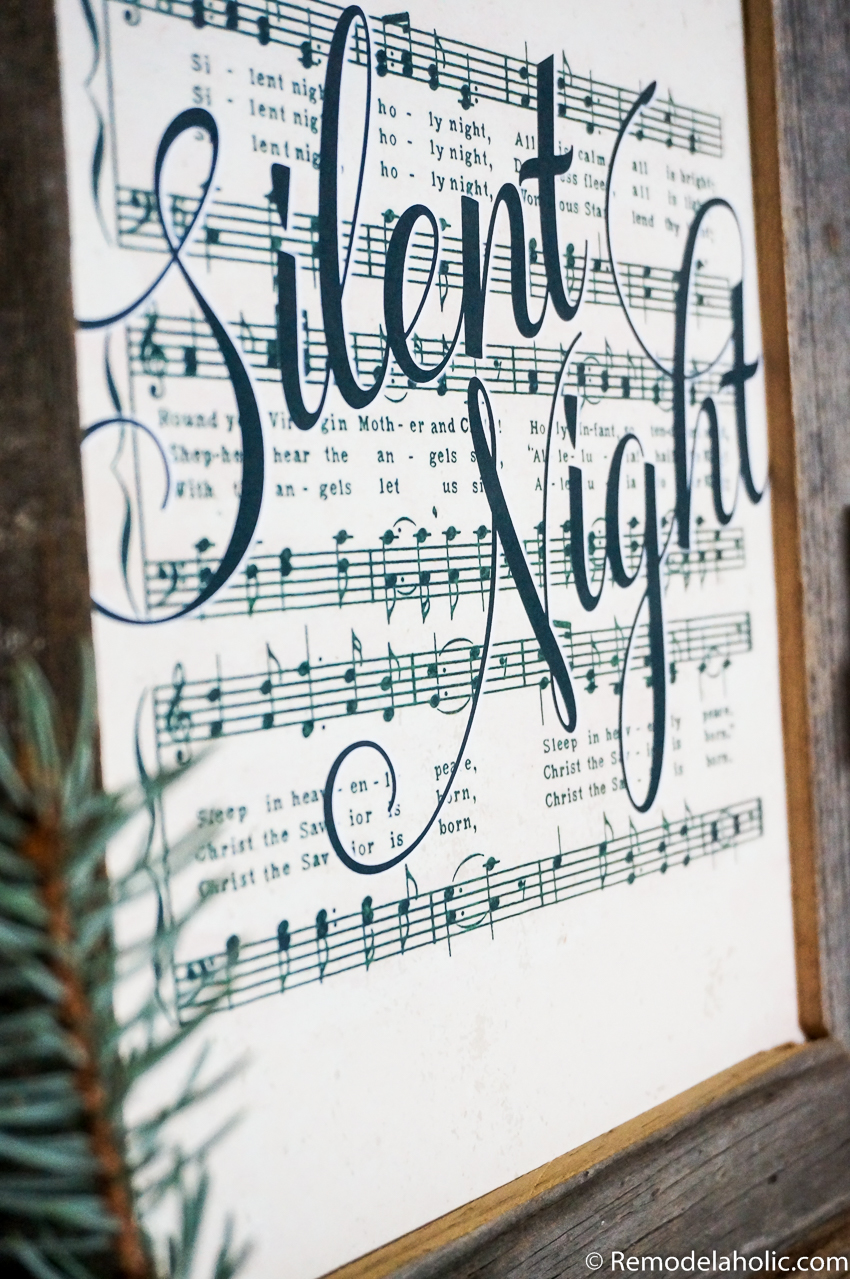 photograph about Free Printable Vintage Christmas Sheet Music referred to as Remodelaholic Free of charge Farmhouse-Style and design Typical Xmas Tunes