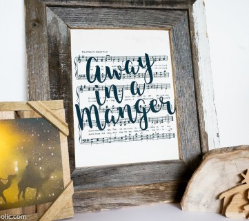 Free Printable Farmhouse Style Vintage Christmas Song Print Set @Remodelaholic (4)