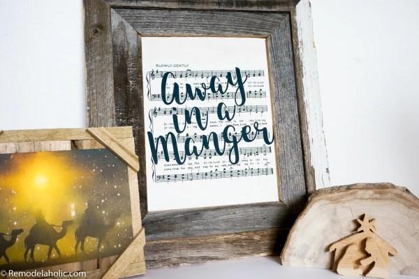 Free Printable Farmhouse Style Vintage Christmas Song Print Set @Remodelaholic (4)
