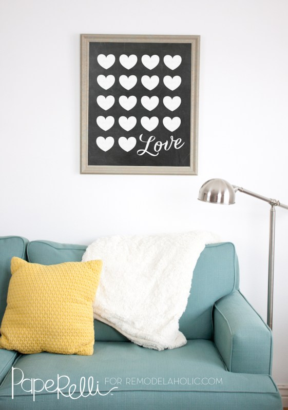 Free Printable Gift Idea, Large Chalkboard Love Poster @Remodelaholic