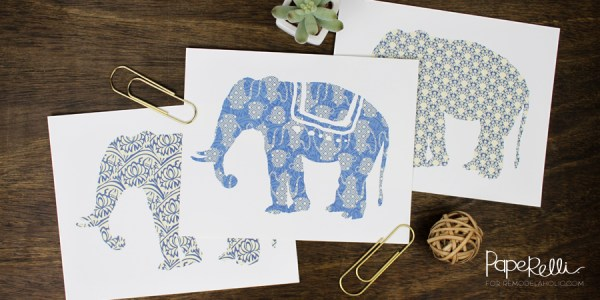 Free Printable Gift Idea, Set Of 3 Elephant Art Prints @Remodelaholic