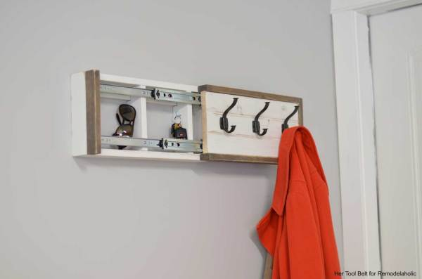 Amy Baesler Sliding Coat Rack Hertoolbelt Finished Open