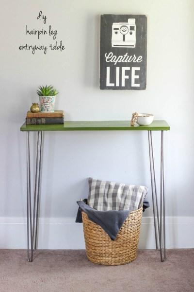 DIY Hairpin Leg Entryway Table