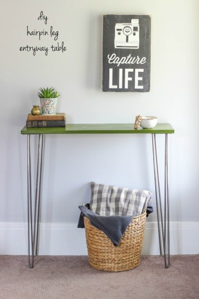 DIY Hairpin Leg Entryway Table