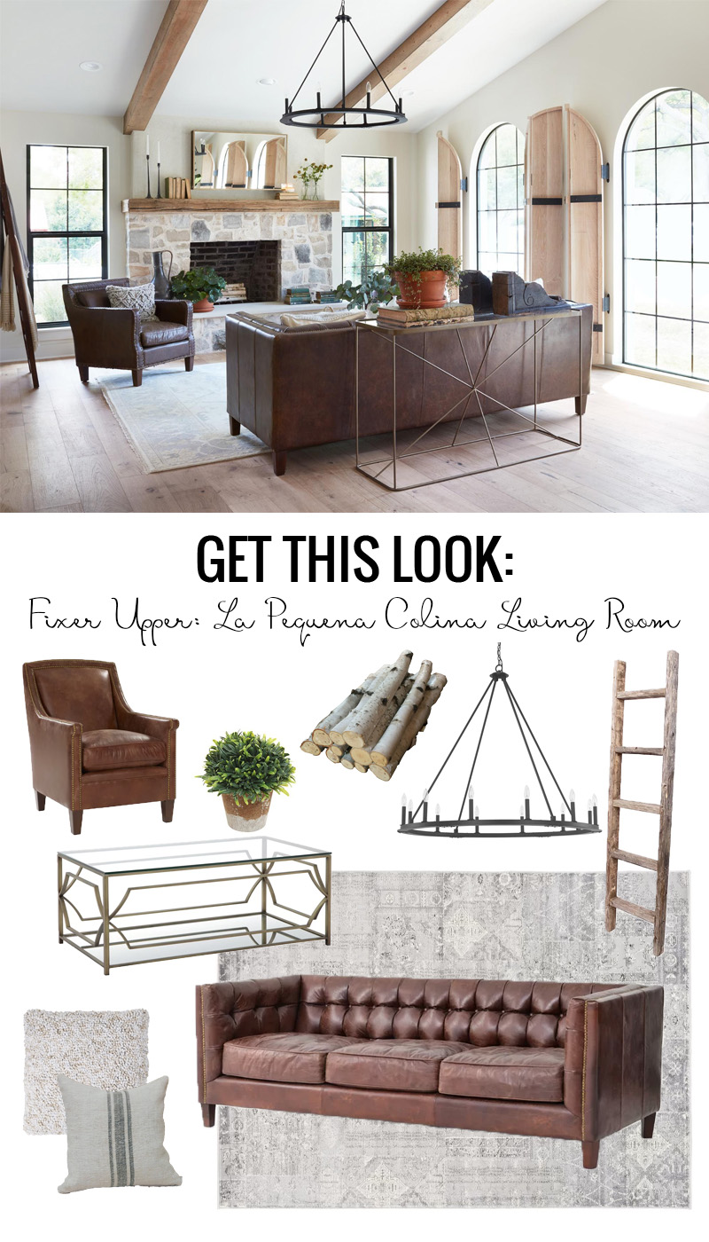Fixer Upper La Pequena Colina Living Room Get This Look featured on Remodelaholic.com