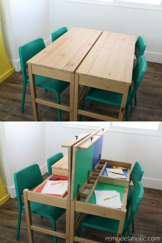 Remodelaholic Diy Ikea Hemnes Desk Hack Into Double Duty Shared Kids
