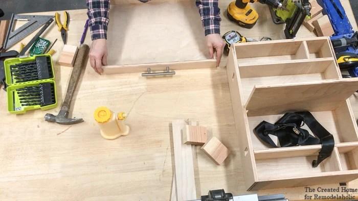 diy car organizer drawer