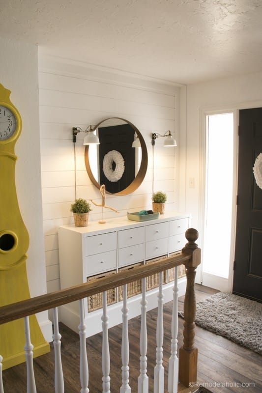 Ikea Entryway storage from Remodelaholic