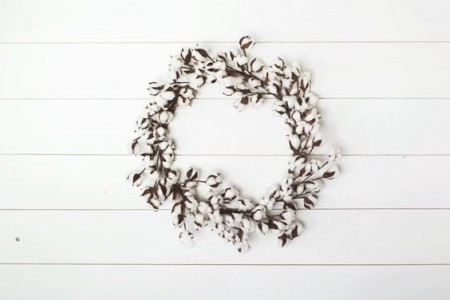 Magnolia Cotton Wreath Remodelaholic