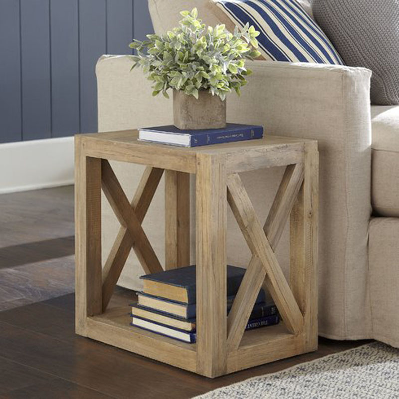 Remodelaholic Diy Planked X Farmhouse Side Table Free
