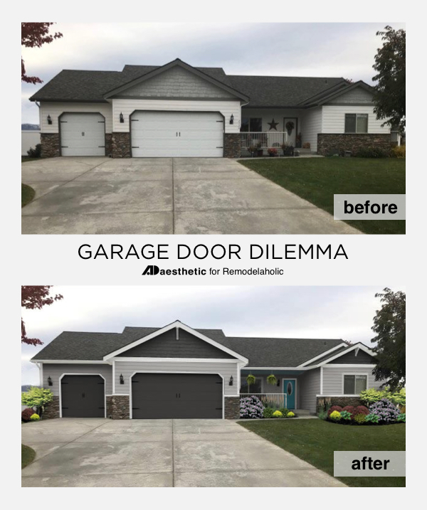 Garage Door Curb Appeal and Exterior Paint Color Ideas |