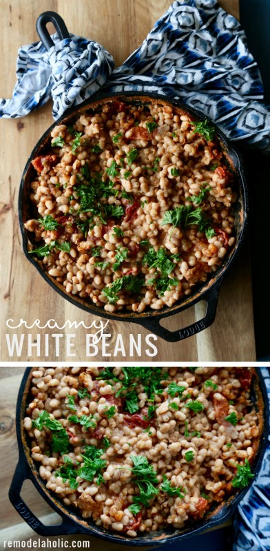 Remodelaholic Creamy White Beans