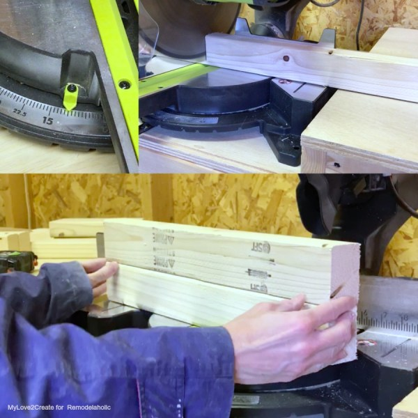 Cutting Legs 10 Degrees Off Square, Easy DIY Bench, MyLove2Create