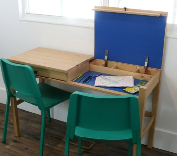 Easy Diy Ikea Desk Hack With 2 Hidden Compartments For Kids Work Areas And Storage #remodelaholic