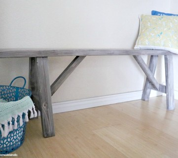 Low Shot Easy DIY Bench, MyLove2Create