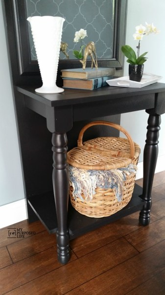 My Repurposed Life Easy Diy Entryway Table