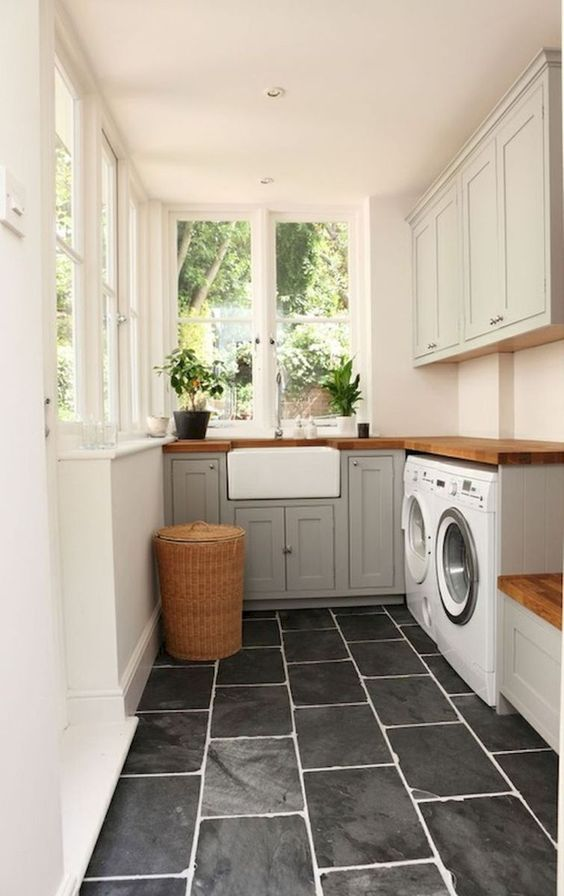 remodelaholic modern farmhouse laundry room inspiration on paint for laundry room floor ideas images id=17020