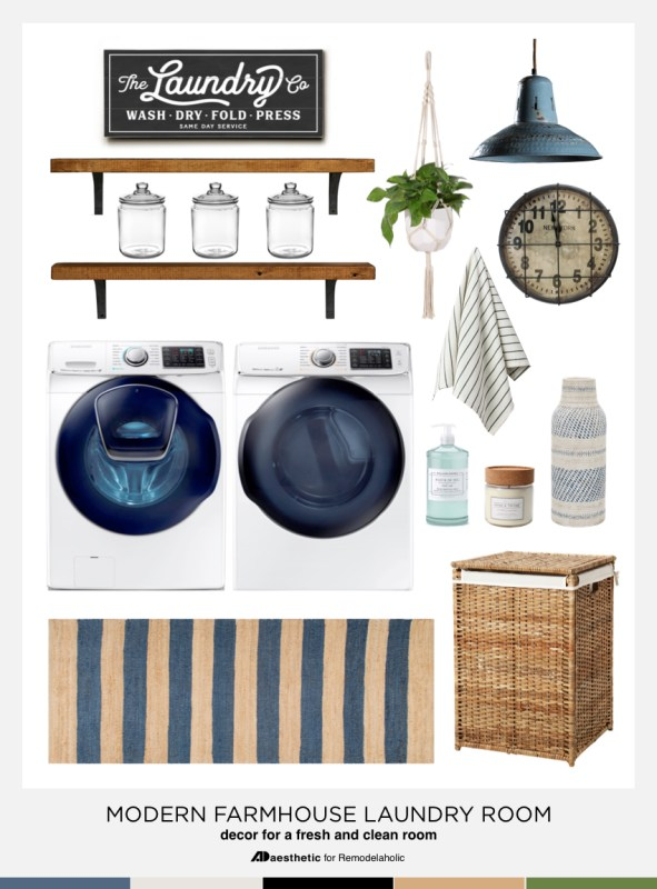 Modern Farmhouse Laundry Room Mood Board