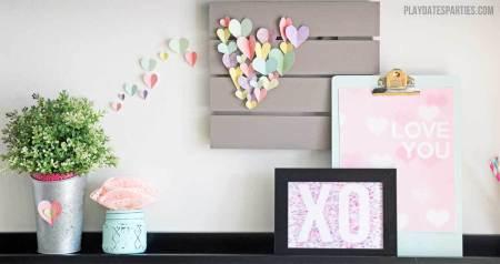Valentines Day Decor Craft F2