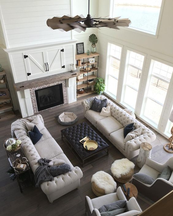 10 Modern Farmhouse Living Room Ideas: Modern Farmhouse Living Room For Just $1200
